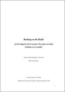 Dissertation on customer satisfaction in banks