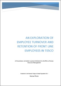 research proposal on employee retention