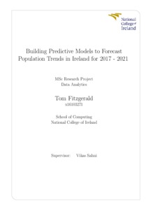 Building Predictive Models to Forecast Population Trends in
